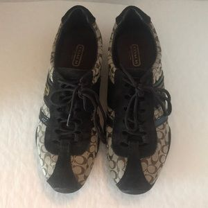 """Coach(#A1964) Remonna Brown """"C"""" Signature Sneakers"""